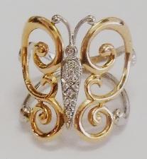 Sortija mariposa oro y diamantes