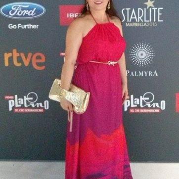 Mariana Achim en los Premios Platino