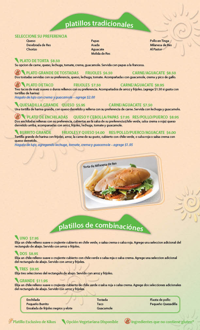 Kikos Authentic Mexican, Brighton Colorado, platillos tradicionales