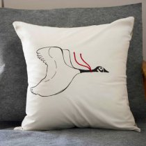 Goose Pillow Cover by Fionna Hanna, Kiku Corner