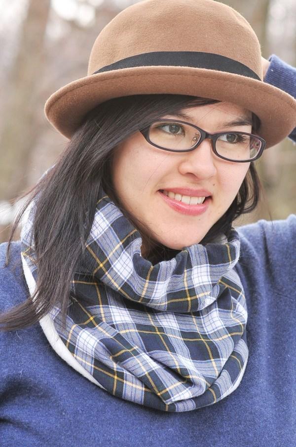 Flannel and Fleece Drawstring Neck-warmer, Kiku Corner 3