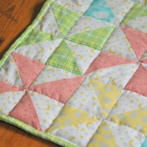 Striped Pinwheel Baby Quilt