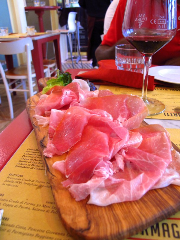Parma Ham and Parmigiano Reggiano in Parma