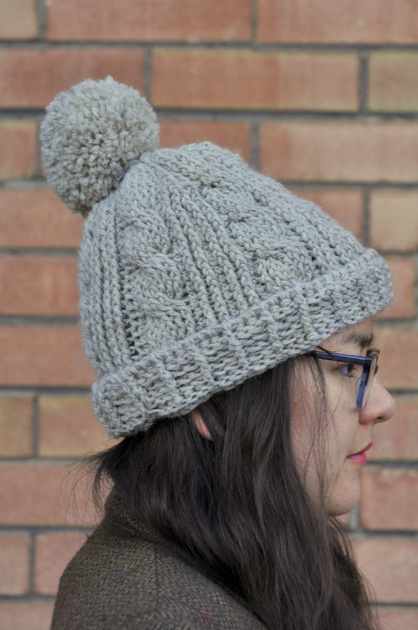 DIY: Chunky Cabled Crochet Beanie with Free Pattern