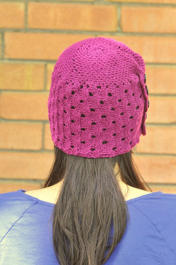 Crochet Buttons and Lace Hat by Sharon Zientara