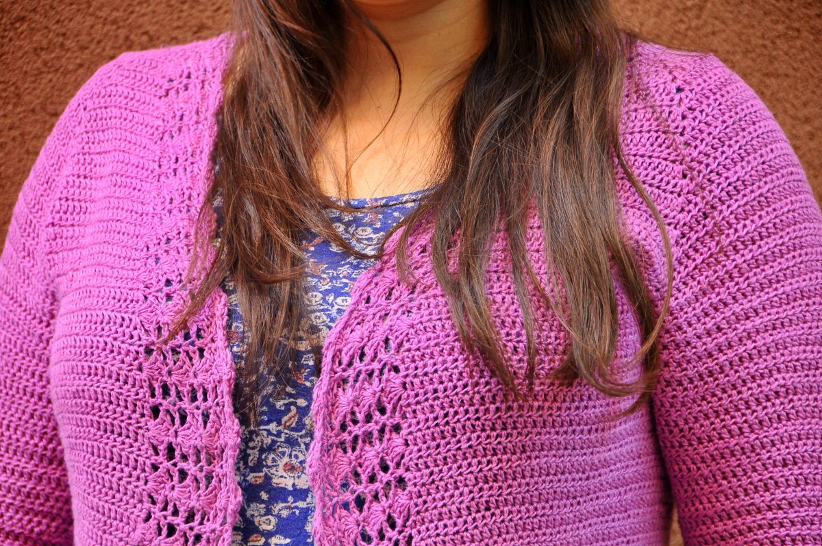 DIY: Crochet Linen and Lace Cardigan by Annelies Baes