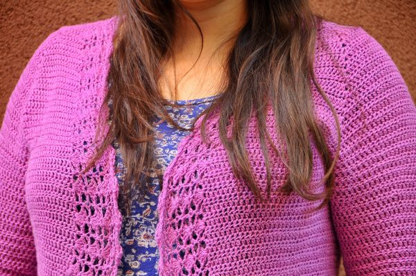 Crochet Linen and Lace Cardigan