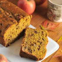 Chocolate Chip Walnut Pumpkin Spice Bread