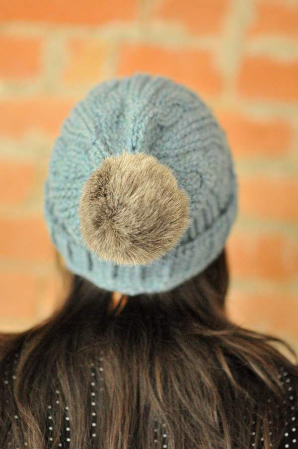 DIY Alpaca Cabled Crochet Beanie and Free Pattern