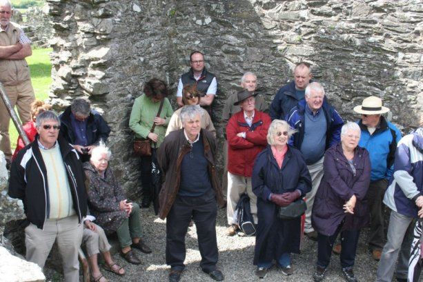 CKAS Visit to Oughterard Round Tower and Cemetery #3
