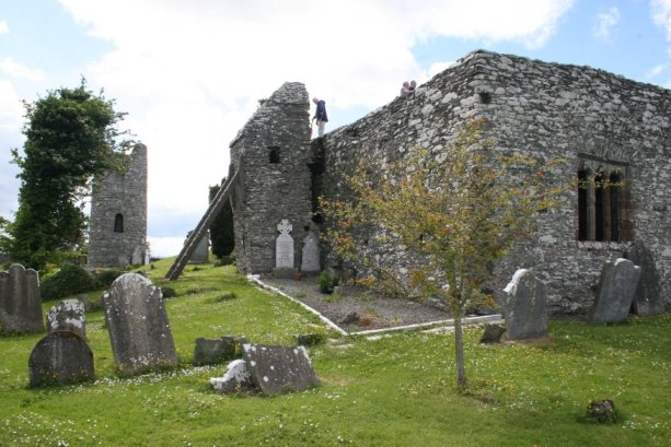 Oughterard Round Tower and Cemetery