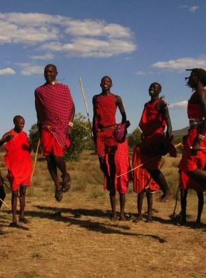 Maasai Moran Dancing in Arusha, Tanzania
