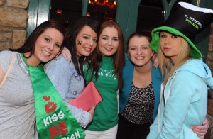 Siobhan Fleming, Sharon O'Leary, Rachel Keller Sexton, Melissa O'Riordan and Valerie O'Rahilly enjoying the Paddy's Day Party that featured a live gig by The Kilkennys band in The Killarney Grand on Tuesday . Picture: Eamonn Keogh (macmonagle.com)