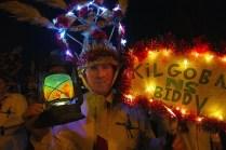The annual ritual: Dan P O'Sullivan, from the KIlgobnet Biddies, marching in Killorglin