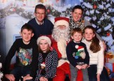 Eoghan, Doireann, Colm and Caoime Kelly with parents Mairead and Donal Kelly, Barraduff, visiting Santa Claus