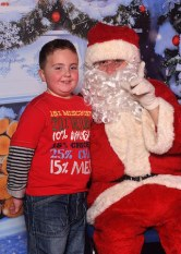Santa enjoyed meeting Cian Lynch