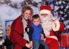 Jane Askins and Tadhg Houlihan with Santa