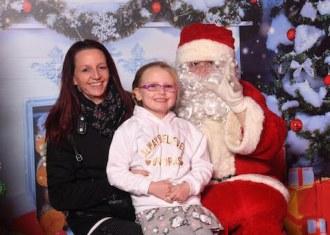 Fiona and Saoirse Murphy met Santa