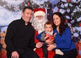 Annette White, Tim and Liam Horgan with Santa