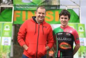 Ethan Slattery, the youngest competitor with his dad, Brendan