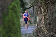 In the shadow of the trees: Gráinne Ní Cionchúr competing