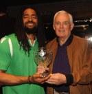 MVP award winner Antuan Bootle with Club President Christy Sheehan