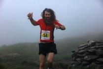 Mark Everard runs down from Mount Brandon
