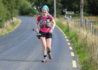 Killarney artist and endurance runner, Tina Reed, competing in the 200km non-stop endurance race