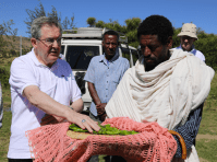 Bishop Crean blesses the locally grown produce