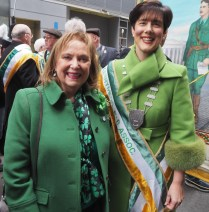 Eileen Henggeler from Killarney with Mayor Norma Foley at the parade