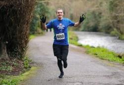 Martin Crowley competing in the Hardman Ireland 10km run