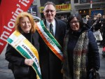 Lorreto King, Danny Lynch and Moira Murrell at the parade