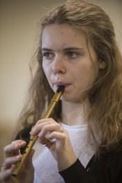 Méabh Ní Chonaill at a tin whistle workshop