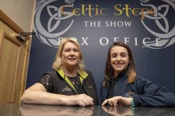 Annette Tobin and Shona Heaslip at the desk