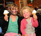 Gemma and Abbie Rose Carroll were keeping cool