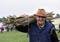 Terence McGough, Woodlawn, Killarney, selling his cattle sticks at the fair