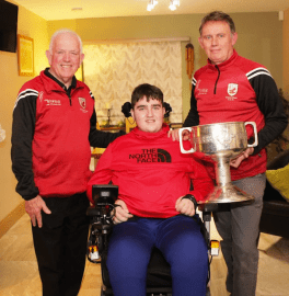 Ian with East Kerry Board Chairman Johnny Brosnan (left) and selector Sean Cronin