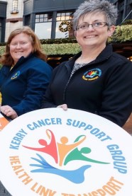 Breda Dyland (right) and Linda Daly from the Kerry Cancer Support Group at the launch of the project