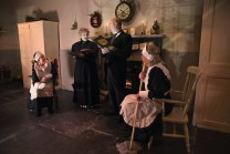 Members of Dochás Drama Group Killarney, Liz Ryan, portraying the head housekeeper and Michael Mills, head butler, read the classic tale to guests and downstairs servants Patricia McSherry (left) and Ger Madden