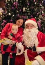 Louise and Daniel O'Donoghue with Santa