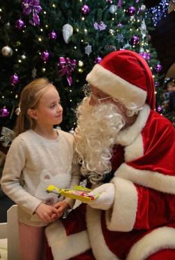 Arolina Kasprzak at the lighting of the Christmas tree and visit of Santa