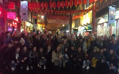 The girls paid a visit to Chinatown