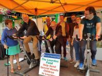 John tired his hand at spinning for charity at the Market Cross, Killarney last August