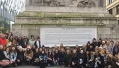 Students at the Monument Tower