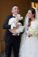 What about me? The happy couple's much-loved canine companion, Piper, insisted on getting in on the act