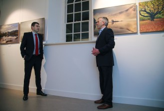 Peter discusses his work and inspiration with Minister for State Brendan Griffin