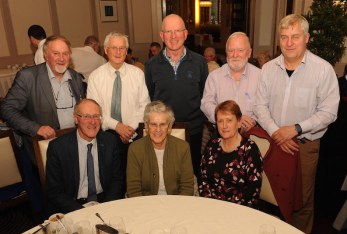 Donal Sheehy, Sr de Lourdes Fleming and Mary O'Sullivan with, at back, Sean Sheehy, Daithi Ó Conaill, Maurice Laide, Colm O'Daly and Billy Daly