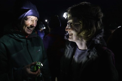 Marguerite O'Neill and Ann Kelly set out in darkness
