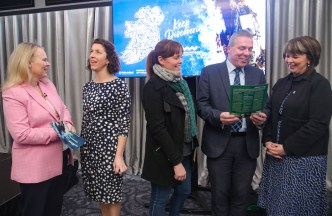 Alison Levins, Fáilte Ireland (left), Aoife Hickey, Ashe and Manor Hotels, Tralee, Grainne Toomey, Ballybunion Community Forum, Declan Murphy, Fáilte Ireland and Michelle King, Rose Hotel, Tralee at the industry briefing in Killarney.