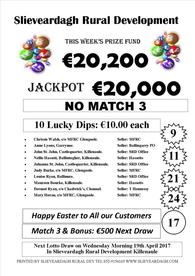 Lotto 12.04.17 Results